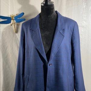 Pendleton blue/black plaid blazer